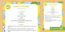 Lemon Pancake Playdough Recipe