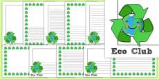 Eco Club Page Borders
