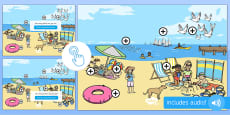 * NEW * EYFS The Seaside Picture Hotspots