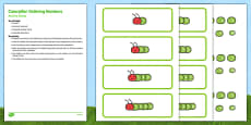 Caterpillar Ordering Numbers Busy Bag Resource Pack for Parents