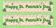 Happy St Patrick's Day Display Banner