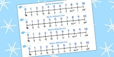 The Snow Queen Number Lines 0-10