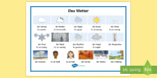 * NEW * Weather Word Mat German
