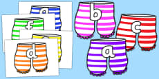 Alphabet Display to Support Teaching on Aliens Love Underpants