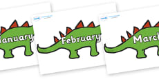 Months of the Year on Dinosaurs