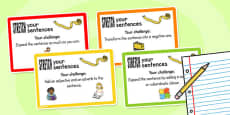 Stretch a Sentence Challenge Cards