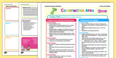 Construction Area Continuous Provision Plan Posters 16-26 to 40-60 Months