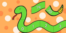Numbers 0-20 on Counting Snake