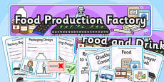 Food Production Factory Role Play Pack