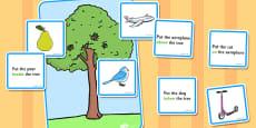 Preposition Tree Game