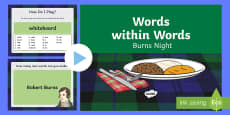 Words within Words Game Burns Night PowerPoint