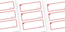 Poppy Themed Editable Drawer-Peg-Name Labels (Blank)