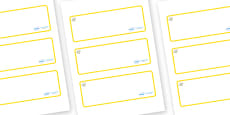 Topaz Themed Editable Drawer-Peg-Name Labels (Blank)
