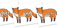 Connectives on Gingerbread Man Fox