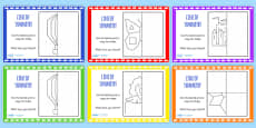 Reflection Symmetry Drawing Maths Challenge Cards