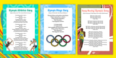 EYFS Rio Olympic Games Songs and Rhymes Resource Pack