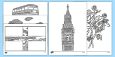 England Mindfulness Colouring Sheets