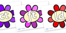Final Letter Blends on Flowers