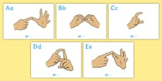 British Sign Language Alphabet Signs