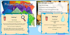 Properties of Paper Materials Lesson Teaching PowerPoint