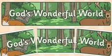 God's Wonderful World Banner