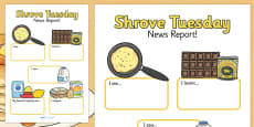 Shrove Tuesday Event Report Writing Template