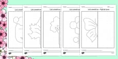 Spring Themed Symmetry Worksheets Romanian