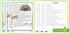 The Grand Opera House in Belfast Differentiated Reading Comprehension Activity