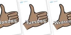 Days of the Week on Thumbs Up