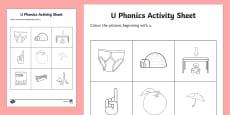u Phonics Colouring Activity Sheet