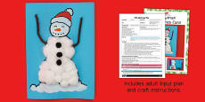 Snowman Christmas Card Craft Adult Input Plan And Resource Pack