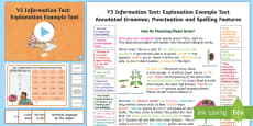 * NEW * Y3 Information Texts: Explanation Model/Example Text