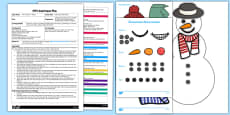 Build a Snowman Game EYFS Adult Input Plan and Resource Pack