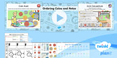 PlanIt Y1 Measurement Coins and Notes (2) Lesson Pack