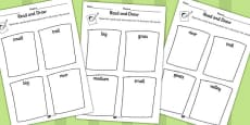 The Three Billy Goats Gruff Read and Draw Worksheet