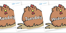 Days of the Week on Chickens
