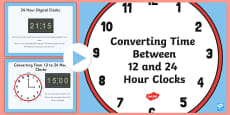 12 and 24 Hour Clock Conversion