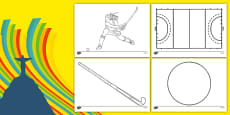 The Olympics Hockey Colouring Sheets