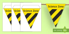 Science Lab Role Play Hazard Warning Bunting