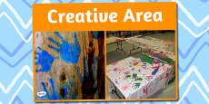 Creative Area Photo Sign
