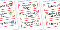 Ant Themed Editable Maths Area Resource Labels