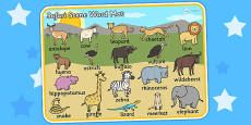 Safari Scene Word Mat