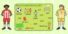 Womens Football World Cup 2015 Word Mat