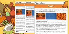 Autumn Differentiated Fact File Spanish