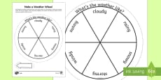 Make a Weather Wheel Activity Sheet