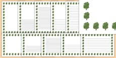 Beech Tree Themed Page Borders
