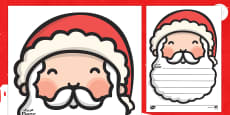 Letters to Santa Writing Templates Arabic/English