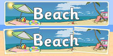 Beach Themed Banner