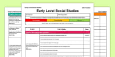 Social Studies CfE Early Level Tracker