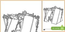 Sukkah Colouring Page
